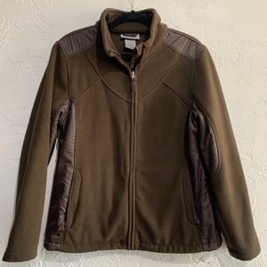 Free Country Brown Zip Up Fleece Size Large